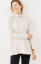 J. Jill Pure Jill Soft-Touch Cotton Striped Turtleneck