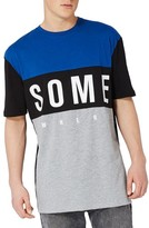 Topman Men's Somewhere Panel Oversize T-Shirt
