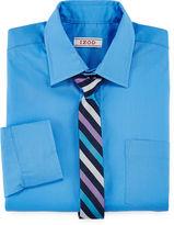 Izod Shirt and Clip-On Tie Set Preschool Boys 4-7