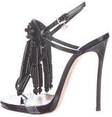 DSQUARED2 Beaded Fringe Slingback Sandals