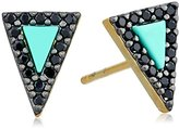 Freida Rothman Two Tone Turquoise Slice Stud Earrings