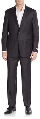 Hickey Freeman Classic Fit Milburn Solid Wool Suit