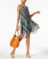 INC International Concepts Printed Handkerchief-Hem Dress, Created for Macy's