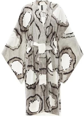 Norma Kamali Tie-dyed Jersey Robe - Black Multi