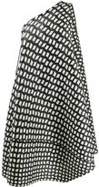 Pleats Please Issey Miyake asymmetric windowpane print smock dress