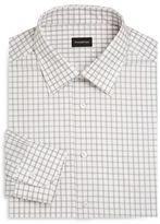 Ermenegildo Zegna Windowpane Regular-Fit Dress Shirt