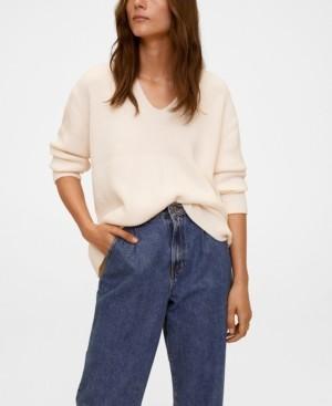 MANGO Women's V-Neckline Sweater