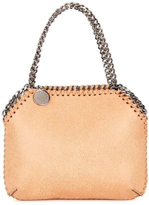 Stella McCartney Falabella Mini Camel Faux Suede Shoulder Bag