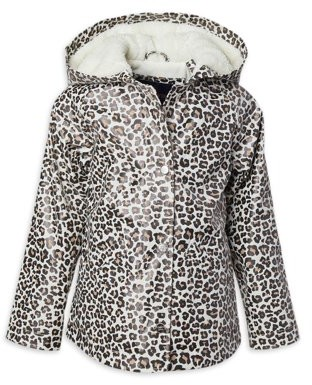 Limited Too Toddler Girls Sherpa Lined Animal Print Raincoat Jacket (Sizes 2T-4T)