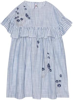 Il Gufo Striped cotton dress