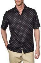 Nat Nast Men's 'Starlight' Regular Fit Short Sleeve Silk & Cotton Sport Shirt