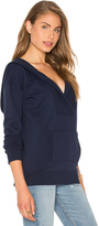 Bobi Cozy French Terry Long Sleeve V Neck Sweatshirt