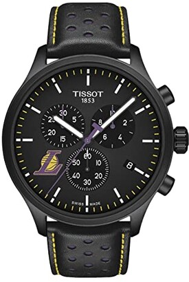 Tissot Chrono XL NBA Chronograph La Lakers - T1166173605103 (Black/Black/Purple) Watches