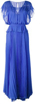 Talbot Runhof pleated skirt layered gown - women - Polyester - 34