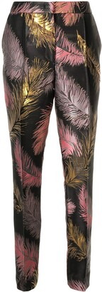 Emilio Pucci Pre-Owned Leaf Pattern Tailored Trousers