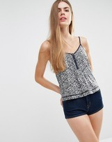 Jack Wills Floral Print Strappy Cami Top