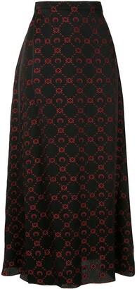 Marine Serre Logo Jacquard Skirt
