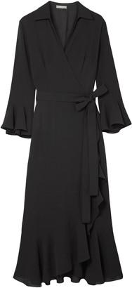 Michael Kors Ruffled Silk-georgette Wrap Dress