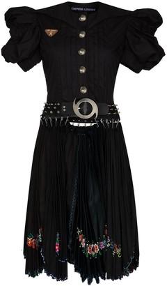 Chopova Lowena Avalanche belted embroidered dress
