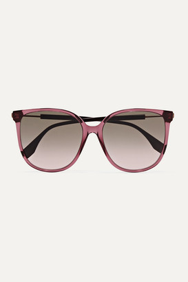 Fendi Square-frame Acetate And Gold-tone Sunglasses - Purple