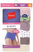 Red Label Hanes Women's No Ride Up Cotton Brief 6-Pack