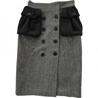 Burberry Grey Cashmere Skirt for Women