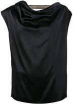 Lanvin chain-trimmed top - women - Triacetate/Polyester/Brass/Zamak - 38