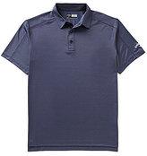 Callaway Big & Tall Denim Jacquard Short-Sleeve Solid Polo Shirt