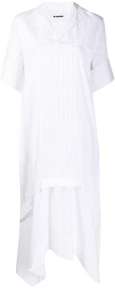Jil Sander Asymmetric Split-Neck Dress