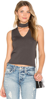 Central Park West Atlantis V Neck Tank in Gray
