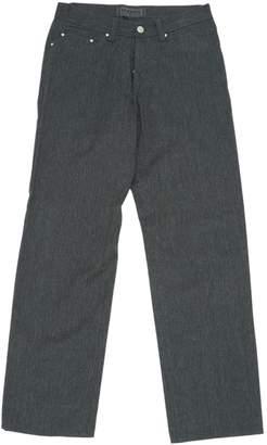 Versace Grey Wool Trousers