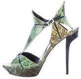 Roger Vivier Lizard Platform Sandals