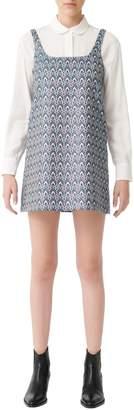 Maje Rako Jacquard Mini Shift Dress