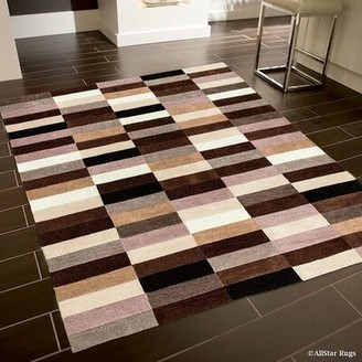 "AllStar Rugs Handmade Brown Area Rug Rug Size: 4'11"" x 6'11"""