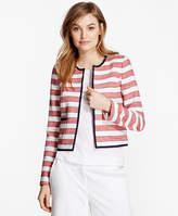 Brooks Brothers Striped Boucle Jacket