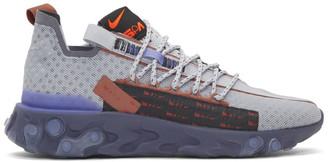 Nike Grey React Ispa Sneakers