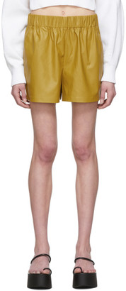 Tibi Khaki Tissue Pull-On Shorts