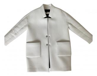 American Retro White Wool Coats