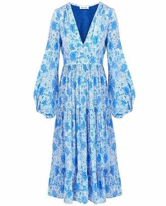 Masscob Salvaor Dress Blue Floral - L