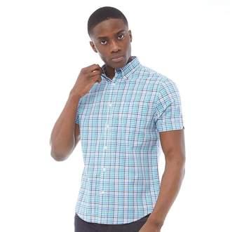Ben Sherman Short Sleeve Poplin Check Shirt Mint