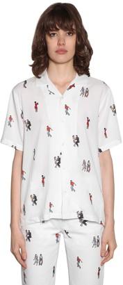 Kirin Dancers Viscose Twill Bowling Shirt