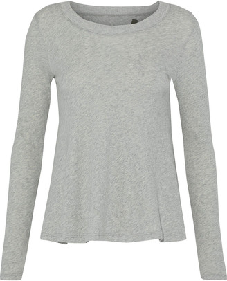 Enza Costa Split-back Cotton And Cashmere-blend Top