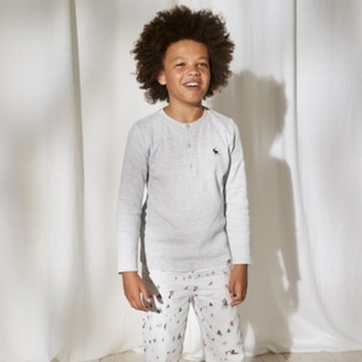 The White Company Waffle Henley Pyjamas (1-12yrs), Multi, 2-3yrs