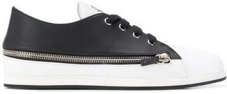 Giuseppe Zanotti Two-Tone Zipped Sneakers
