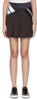 Neil Barrett Black Modernist Miniskirt
