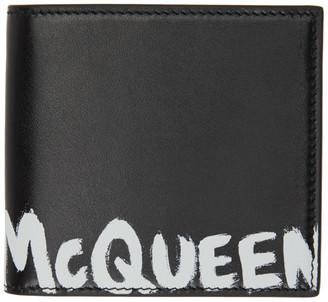 Alexander McQueen Black Graffiti Bifold Wallet