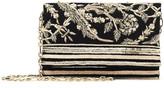 Oscar de la Renta Gold Embroidered Faille DeDe Bag