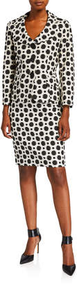 Albert Nipon Polka-Dot Two-Piece Jacket & Skirt Suit Set