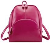 Hynbase Hynbse Womens Girls Fashion Simple Style PU Leather Backpack Shoulder Bag