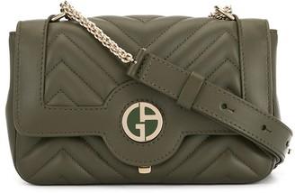 Giorgio Armani logo quilted crossbody bag